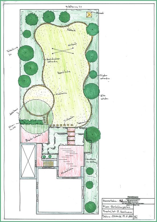Planung horstmann garten und landschaftsbau for Gartengestaltung zeichnung